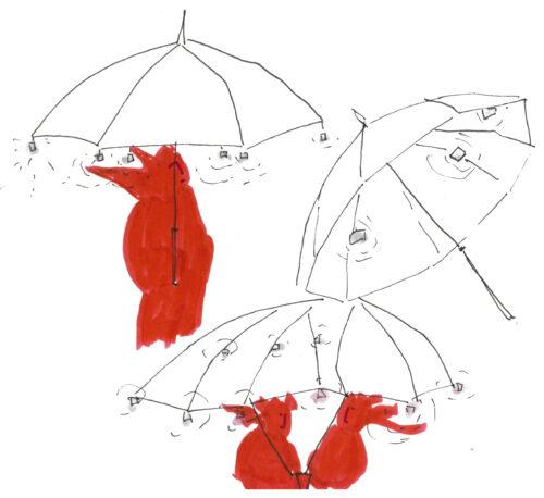 Ecouter-voir : coin de parapluie